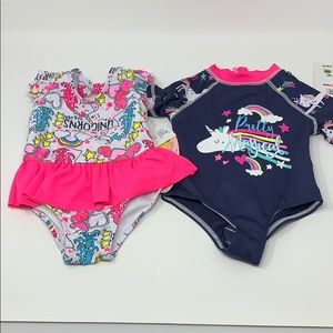 Other - NWT Baby Unicorn Lover Swimsuit Bundle